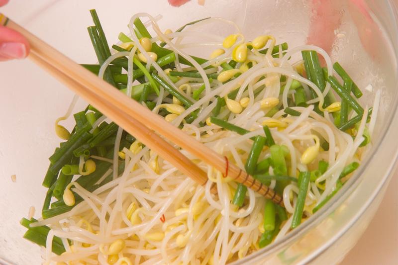 豆モヤシのナムル風の作り方の手順5
