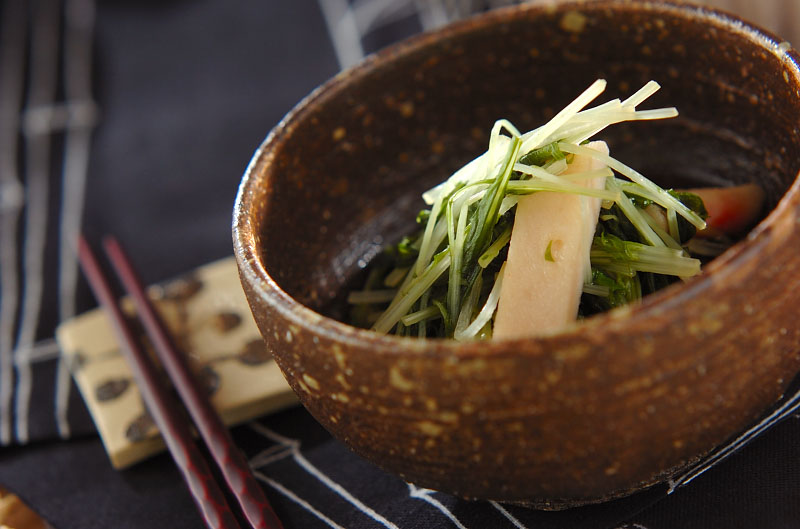水菜とショウガ天のサッと煮の作り方の手順