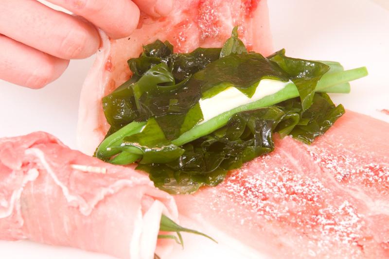 生ワカメの豚肉巻きの作り方の手順5
