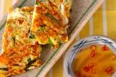 ニラのふんわり卵焼きの作り方の手順