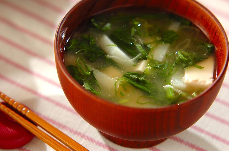 豆腐と残り野菜のみそ汁