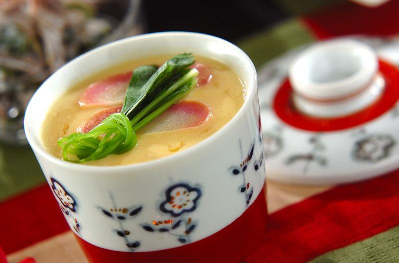 エビ入り茶碗蒸しの作り方の手順
