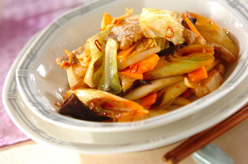 豚肉と白ネギの中華炒めの作り方の手順