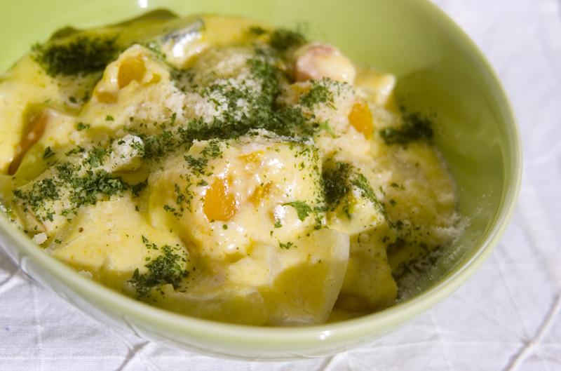 カボチャのクリーム煮の作り方の手順