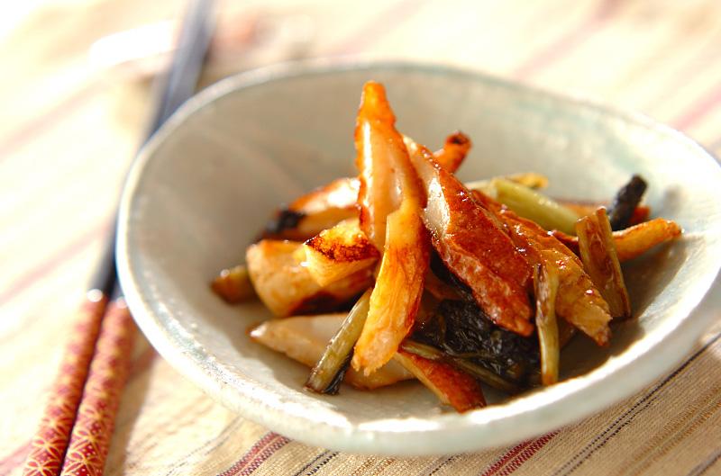ちくわと野沢菜の炒め物の作り方の手順