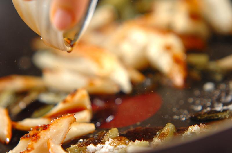 ちくわと野沢菜の炒め物の作り方の手順4