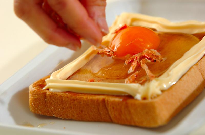 お好み焼き風トーストの作り方の手順2