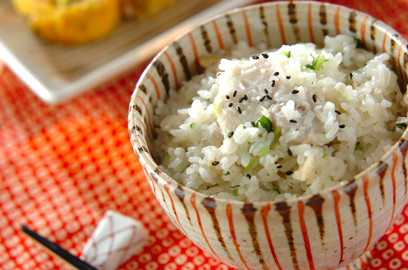 里芋とホタテの炊き込みご飯の作り方の手順