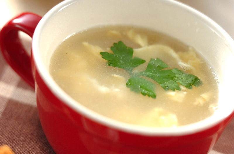 ふんわりやさしい!卵とホタテのスープ
