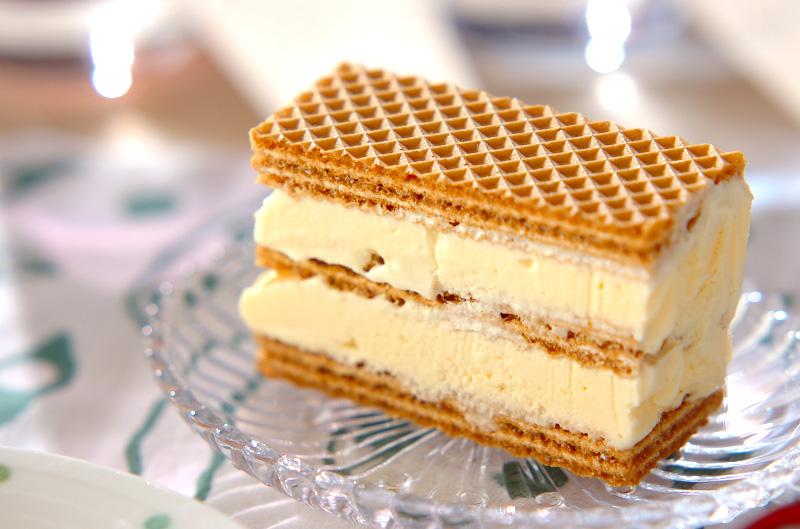 ウエハースアイスケーキの作り方の手順