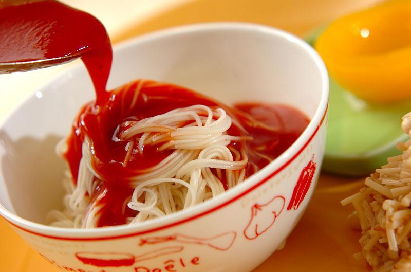 スタミナトマト素麺の作り方の手順4