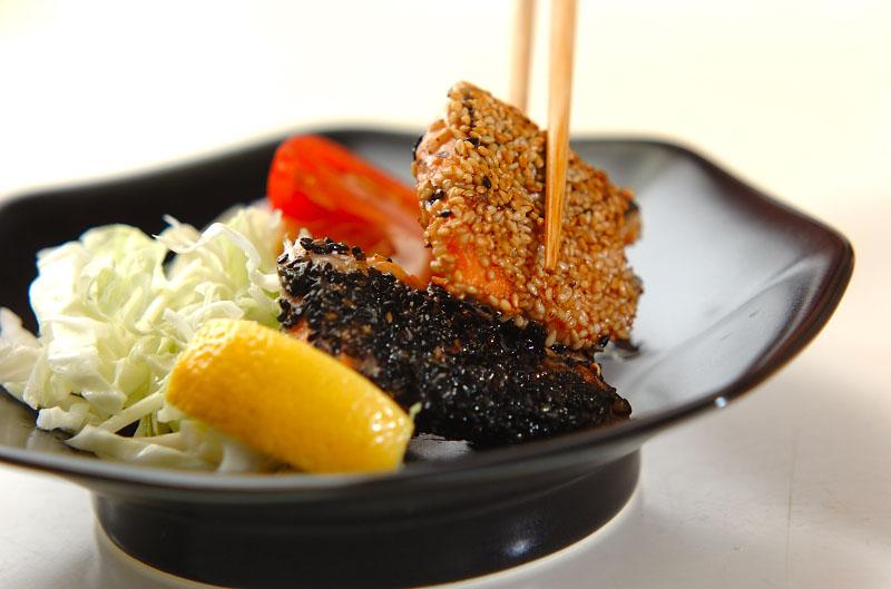 鮭のゴマまぶし焼きの作り方の手順6