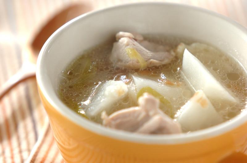 カブと鶏の梅スープ【E・レシピ】料理のプロが作る簡単レシピ/2013.03.26公開のレシピです。