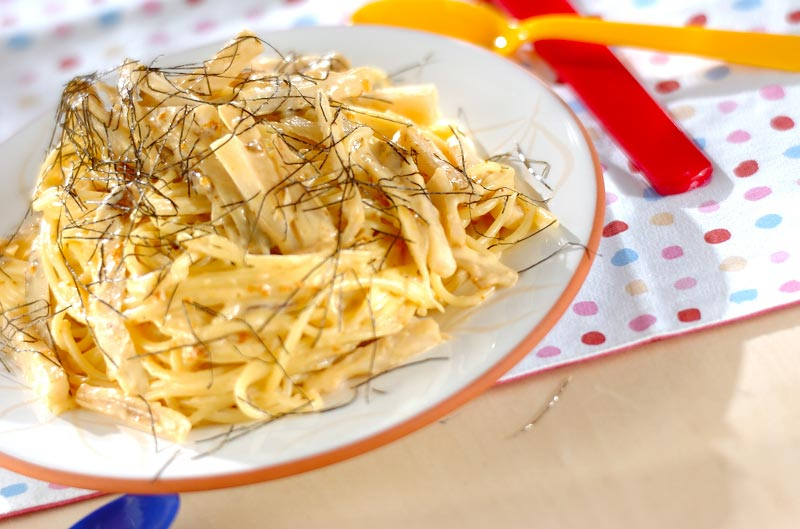 ウニの根菜クリームパスタの作り方の手順