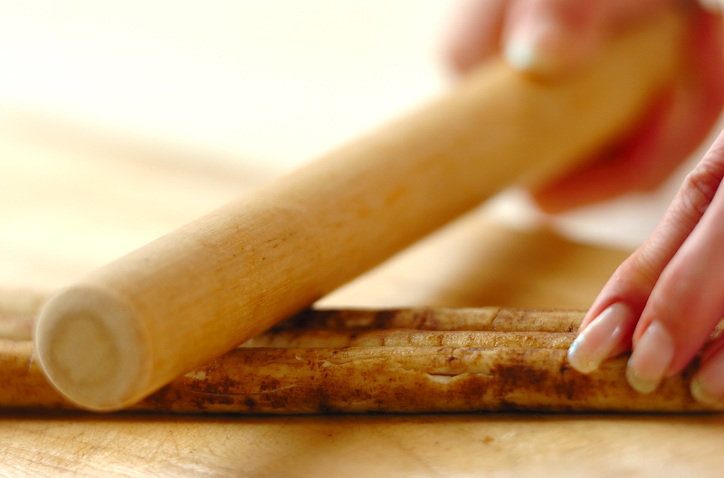 たたきゴボウの作り方の手順1