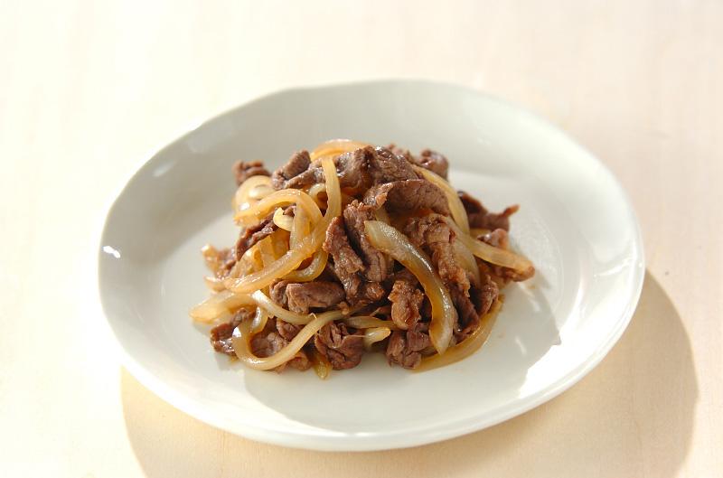 玉ネギと牛肉の甘辛炒めの作り方の手順
