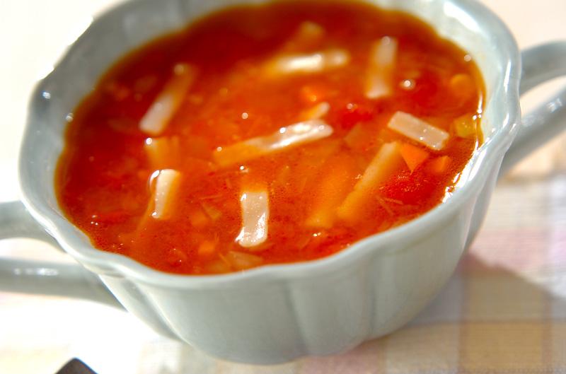 トマトチーズスープの作り方の手順