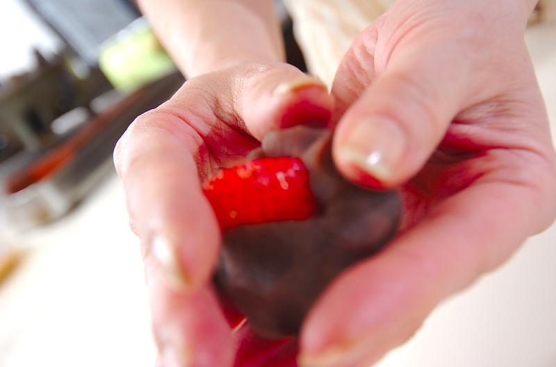 イチゴ大福の下準備3