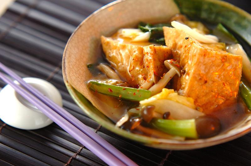 厚揚げと小松菜の煮浸しの作り方の手順