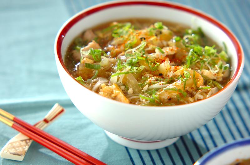 鶏温麺【E・レシピ】料理のプロが作る簡単レシピ/2011.01.24公開のレシピです。