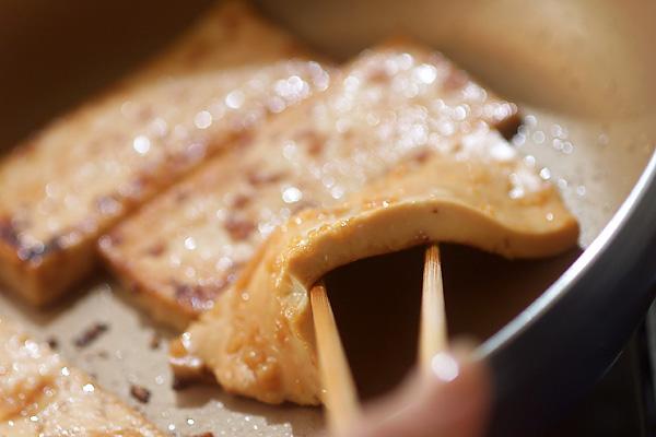 豆腐ステーキの和風サンドの作り方の手順2