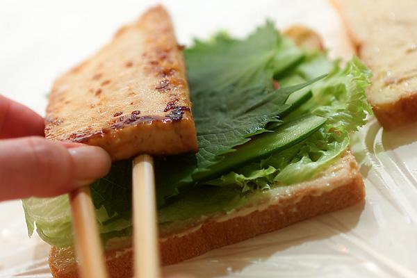 豆腐ステーキの和風サンドの作り方の手順3