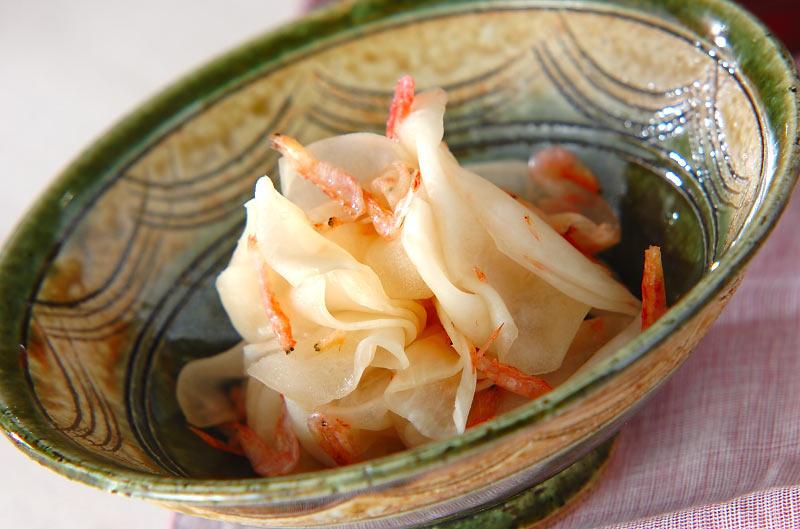 桜エビの酢の物の作り方の手順