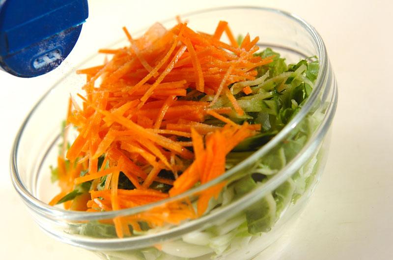 エビ入り白菜の甘酢和えの作り方の手順7