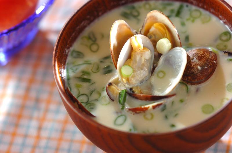 アサリの豆乳みそ汁の作り方の手順