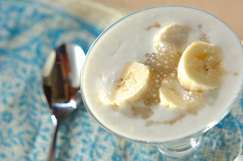 タピオカ入りココナッツのデザートの作り方の手順