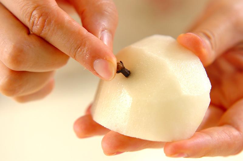梨の白ワイン煮の作り方の手順1