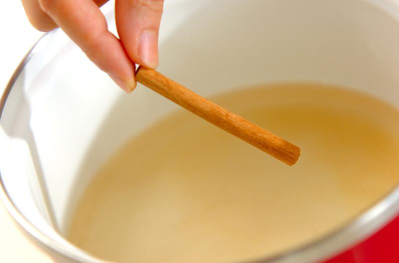 梨の白ワイン煮の作り方の手順2