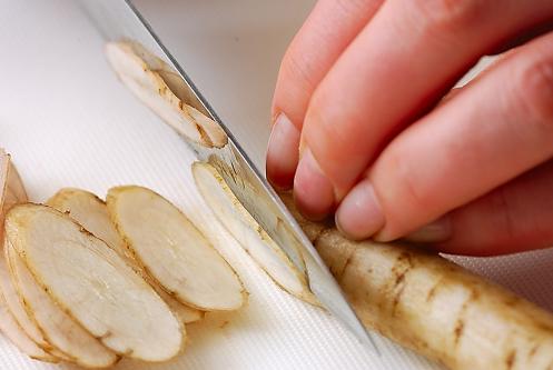 ゆで野菜のゴマ和えの作り方1