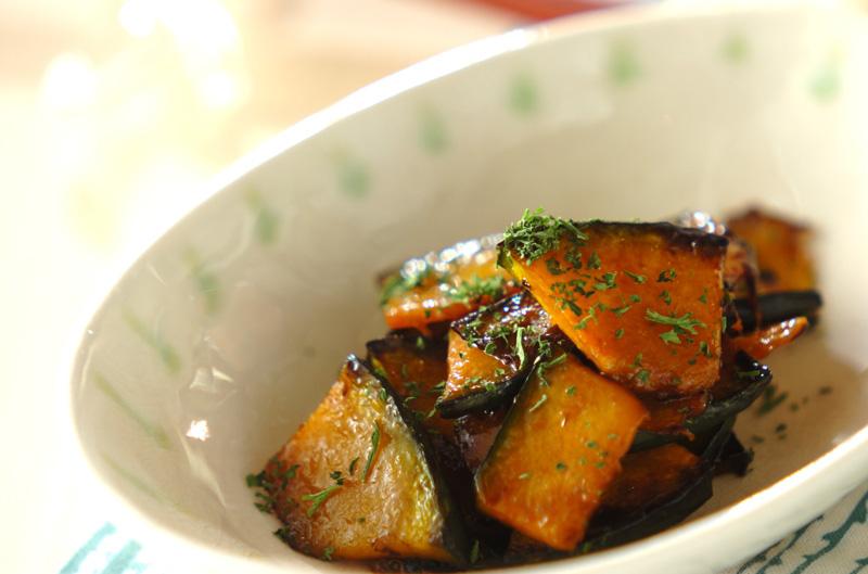 カボチャのオイスター炒めの作り方の手順
