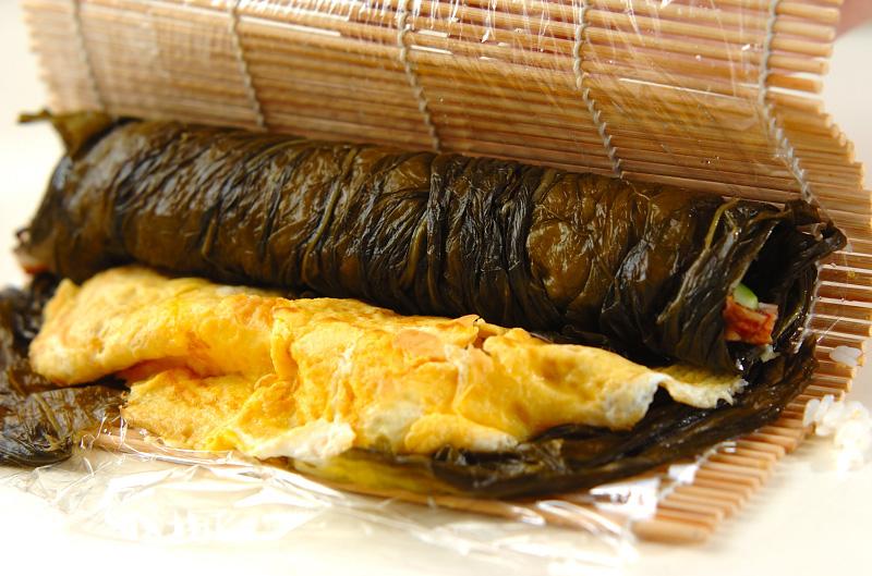 野沢菜のり巻きの作り方の手順7