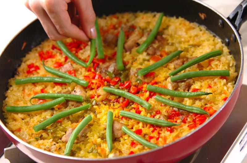 発芽玄米パエリアの作り方の手順15
