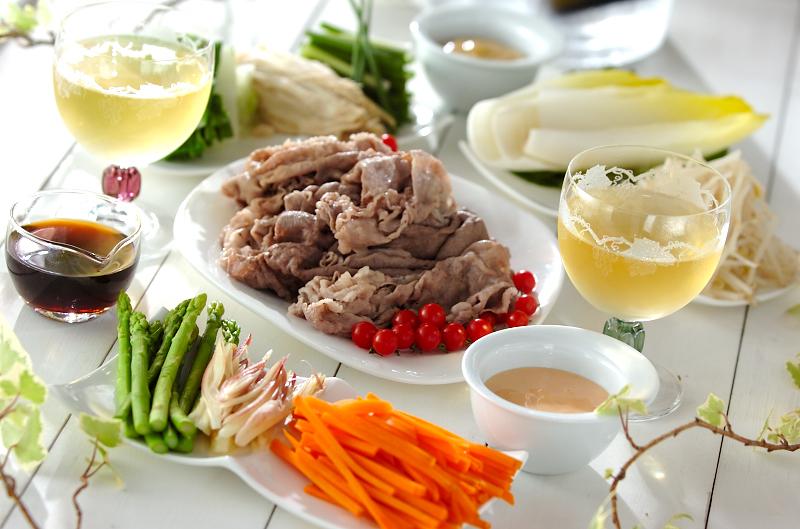 ゆで野菜の牛肉巻き