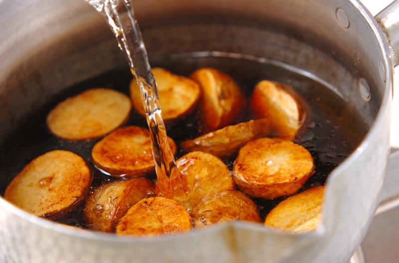 新ジャガの揚げ煮の作り方の手順4