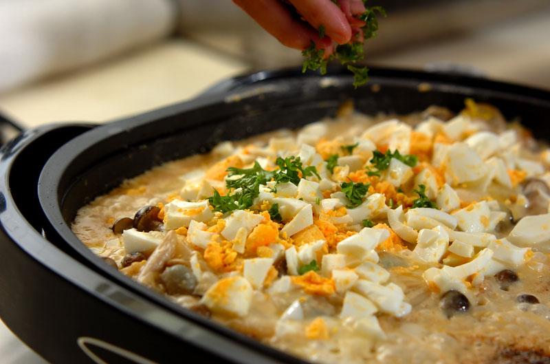 白菜とカキのカレーグラタンの作り方の手順7