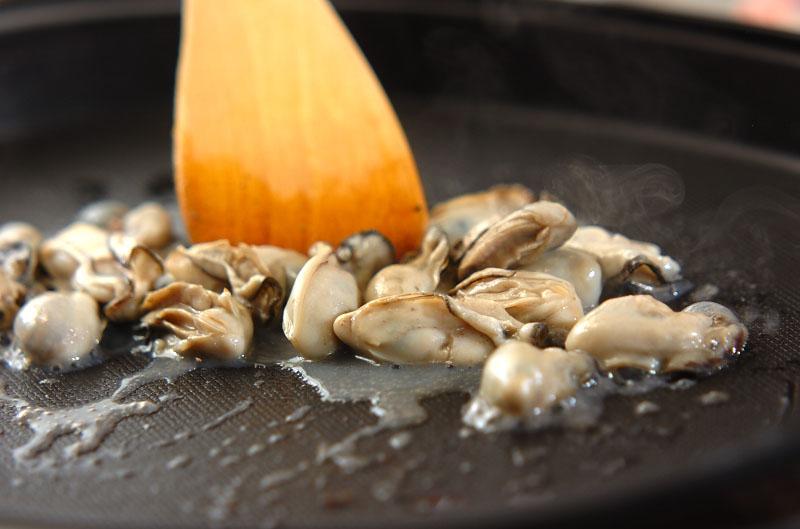 白菜とカキのカレーグラタンの作り方の手順3