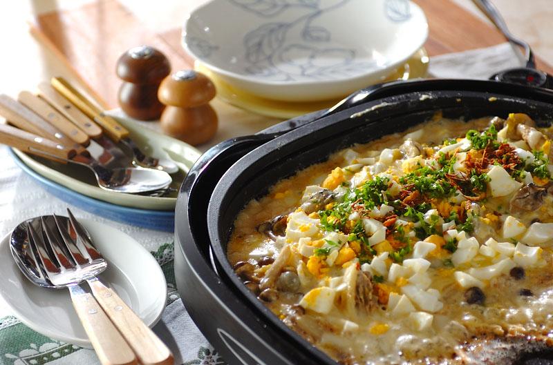 白菜とカキのカレーグラタンの作り方の手順