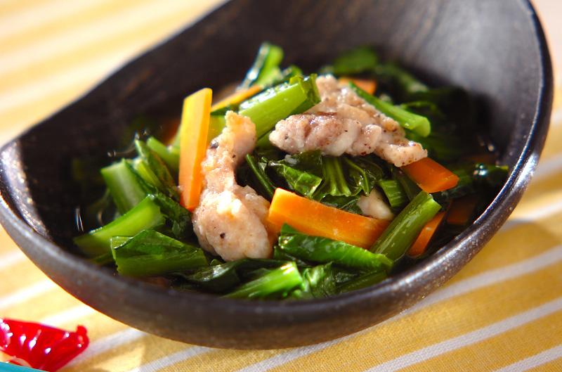 小松菜の洋風煮浸し