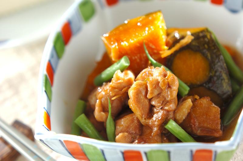 時短!ジューシー鶏ももとカボチャの煮物【E・レシピ】料理の ...