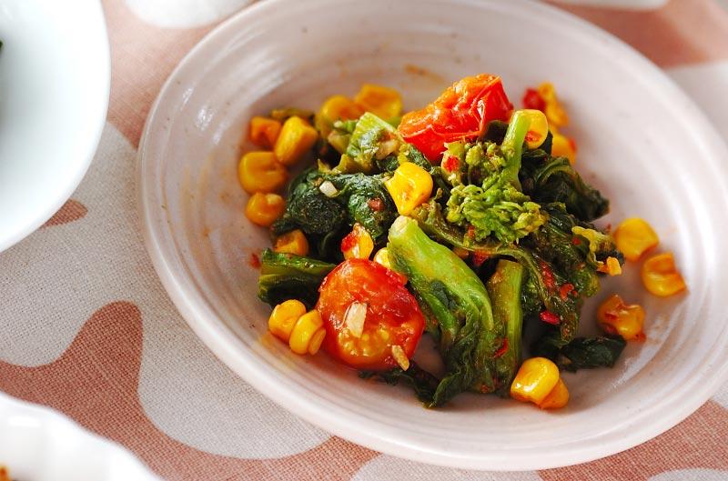 菜の花のピリ辛炒め