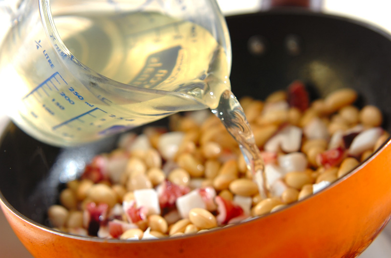 大豆とタコのショウガ煮の作り方の手順3