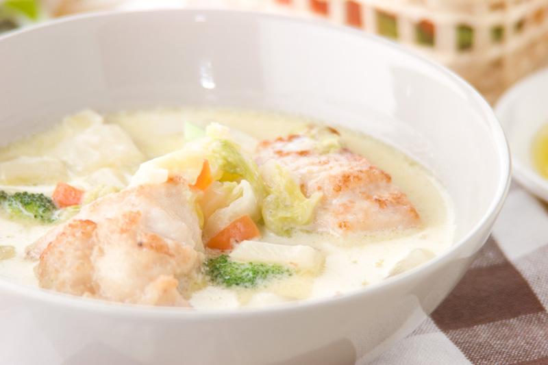 あっさりおいしい鶏むね肉と白菜のクリーム煮の作り方の手順