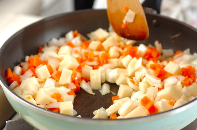 豆乳とバナナのまろやかチキンカレーの作り方の手順6