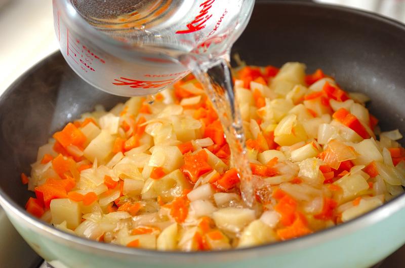 豆乳とバナナのまろやかチキンカレーの作り方の手順7