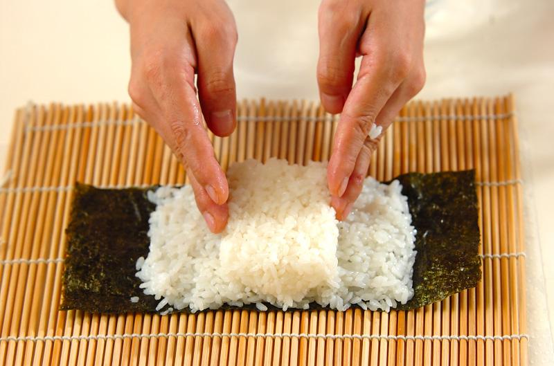 コアラちゃんデコ巻き寿司の作り方の手順5