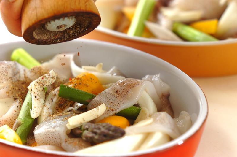 イカと野菜のオーブン焼きの作り方の手順8